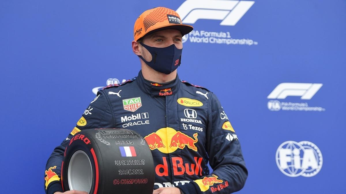 F1 Fransa'da pole pozisyonu Max Verstappen'in