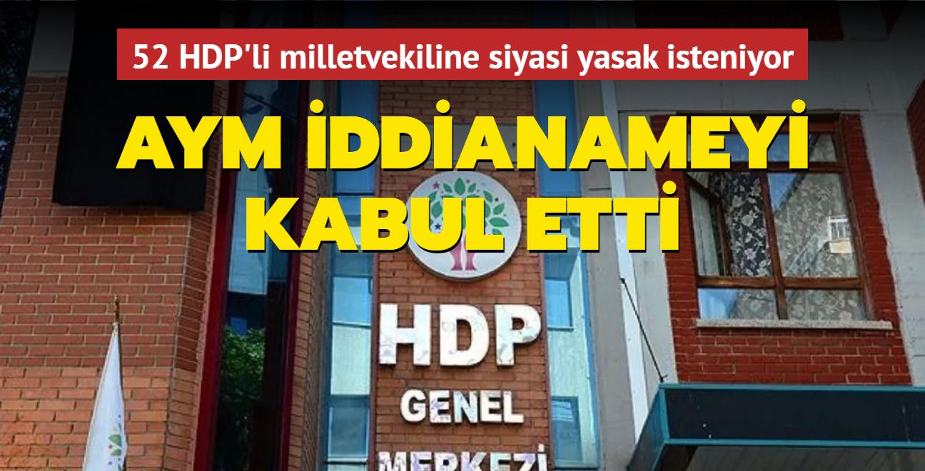 AYM HDP iddianamesinin kabulüne karar verdi