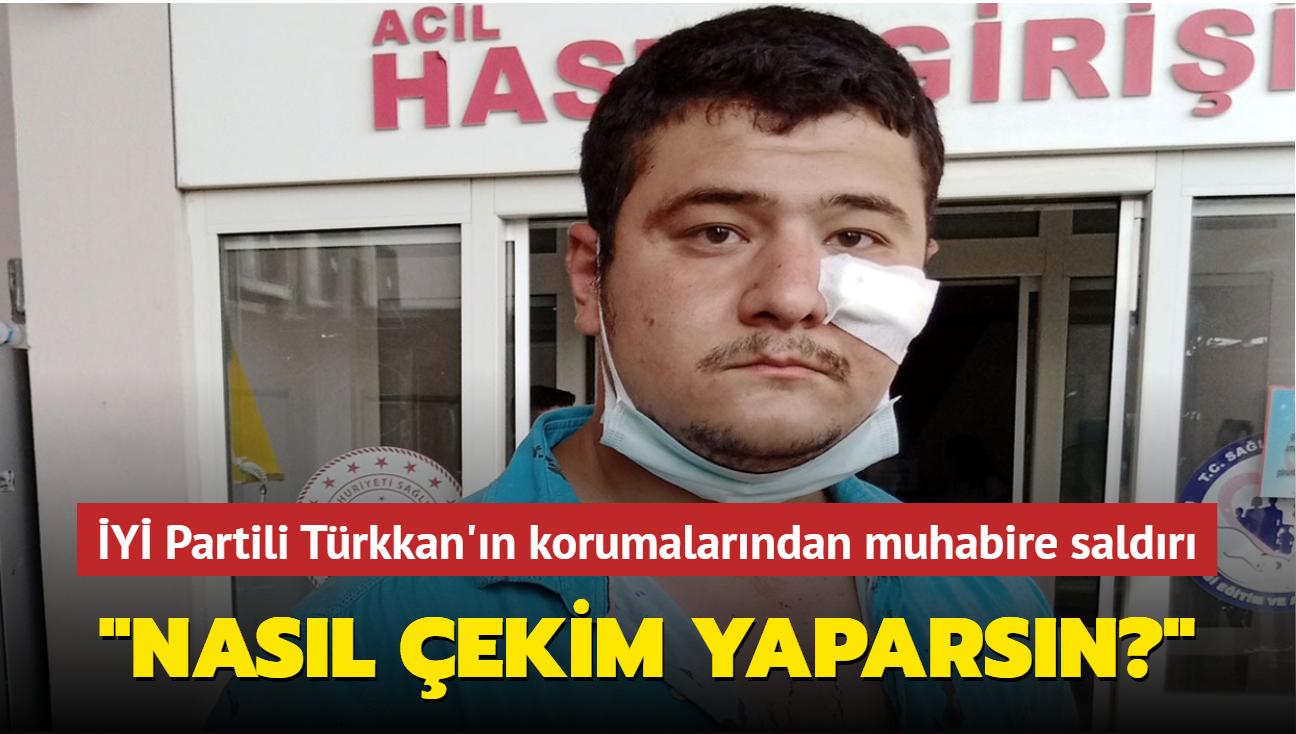 İYİ Partili Türkkan'ın kaçak yapılarının yıkımını kaydediyordu... Gazeteciye saldırı