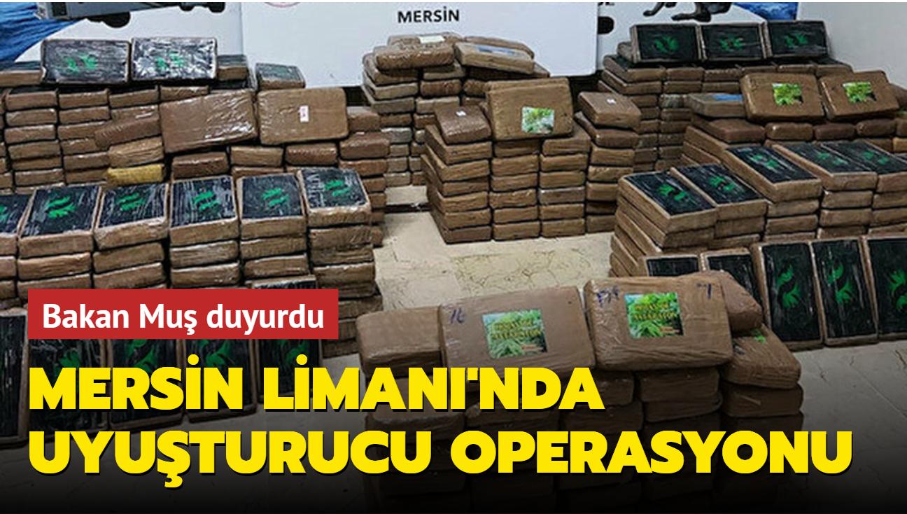 Mersin Limanı'nda uyuşturucu operasyonu: 463 kilogram kokain ele geçirildi