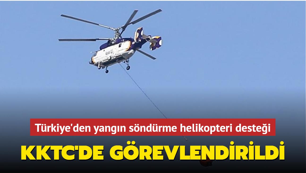 Türkiye'den yangın söndürme helikopteri desteği... KKTC'de görevlendirildi
