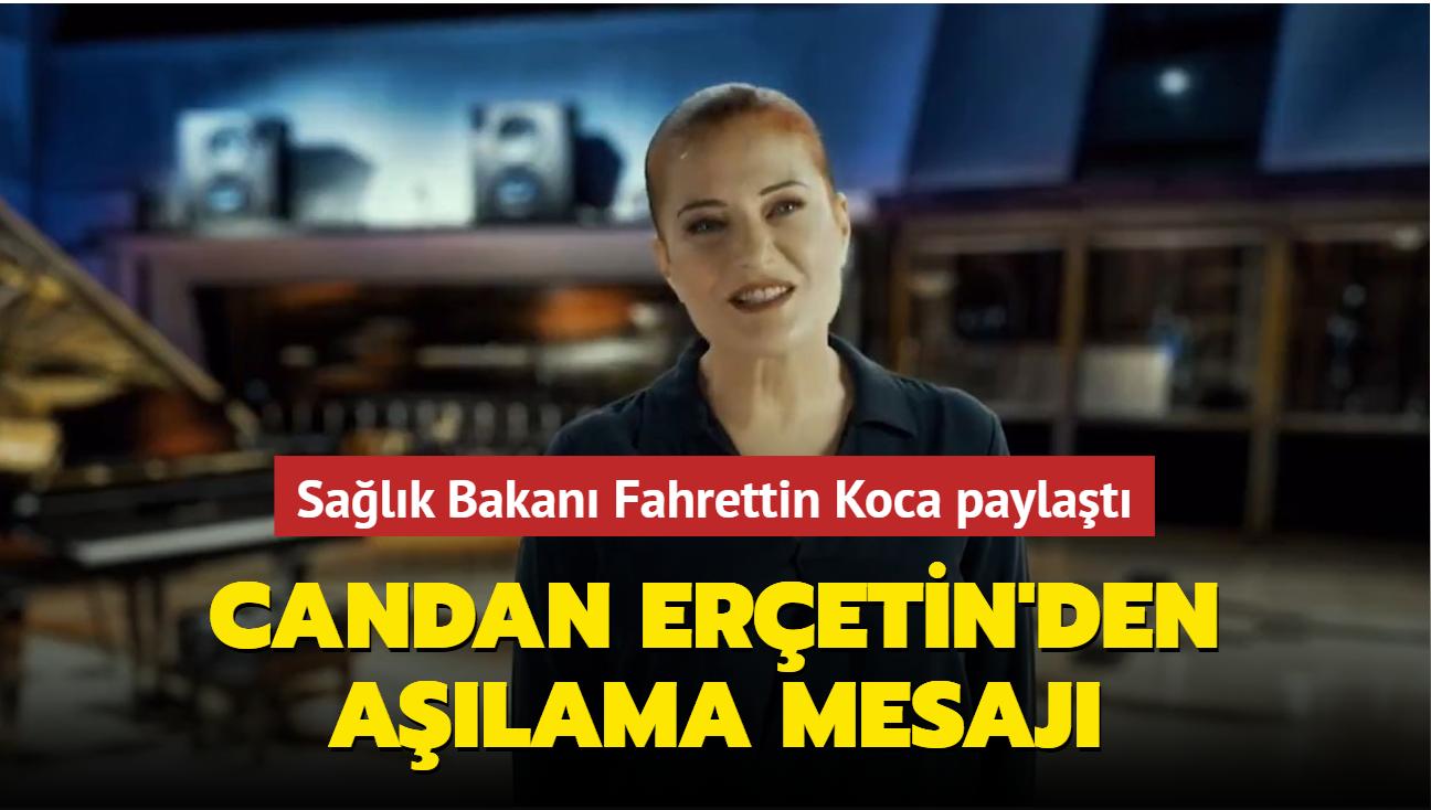 """Candan Erçetin'den aşılama mesajı: """"Ertelemeyin ki yine birlikte şarkılar söyleyelim"""""""