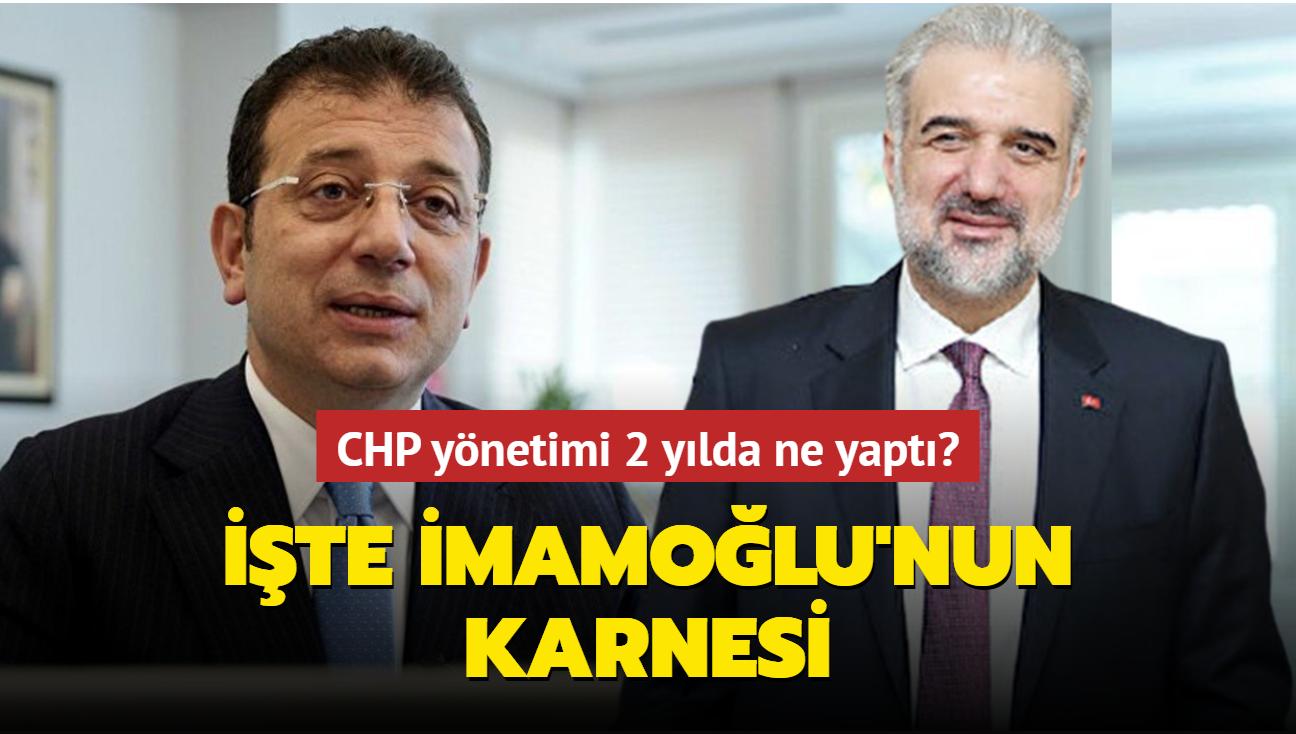 """CHP yönetimi 2 yılda ne yaptı"""" İşte İmamoğlu'nun karnesi"""
