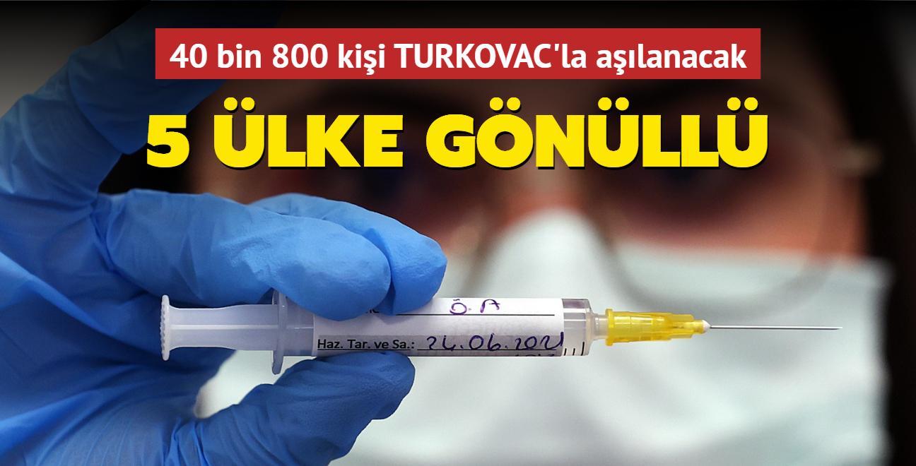 Yerli aşı TURKOVAC'a 5 ülke gönüllü oldu