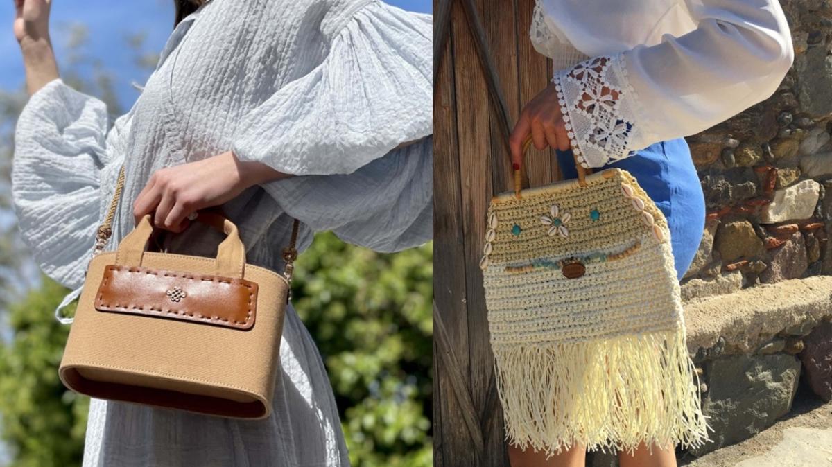 Yaz stiline uyan hasır çanta modelleri