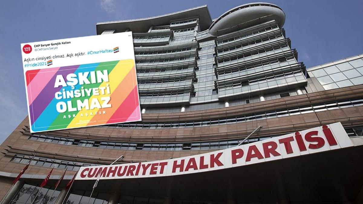 CHP Gençlik Kolları'ndan LGBT'ye destek