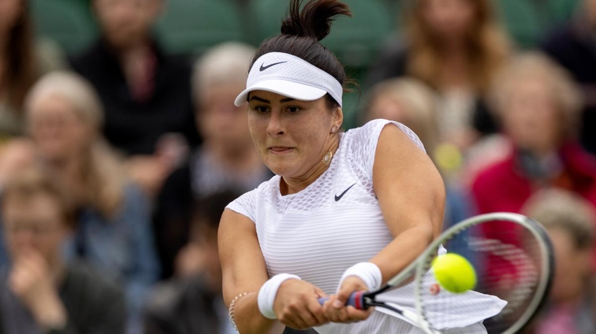 5 numaralı seribaşı Bianca Andreescu, Wimbledon'a ilk turda veda etti
