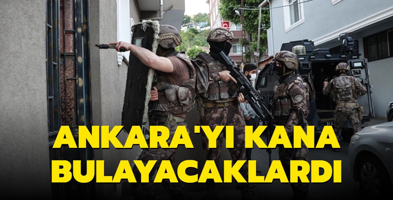 Ankara'da bombalı saldırıya hazırlanan 3 terörist tutuklandı
