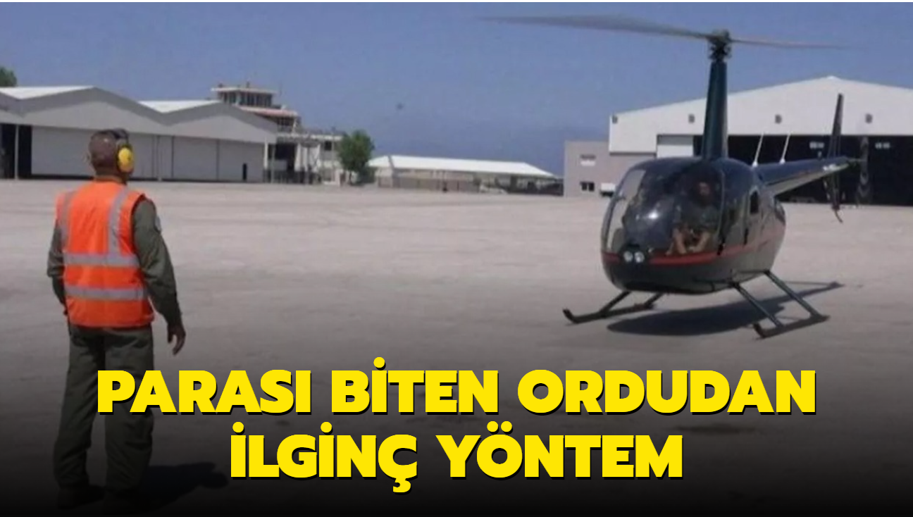 Parası biten Lübnan ordusu, helikopterle turist gezdirmeye başladı
