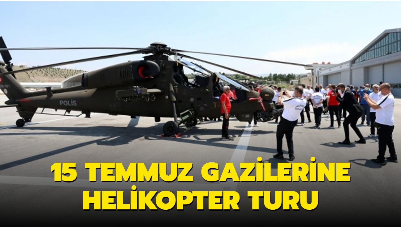 EGM'den 15 Temmuz gazilerine helikopterli başkent turu