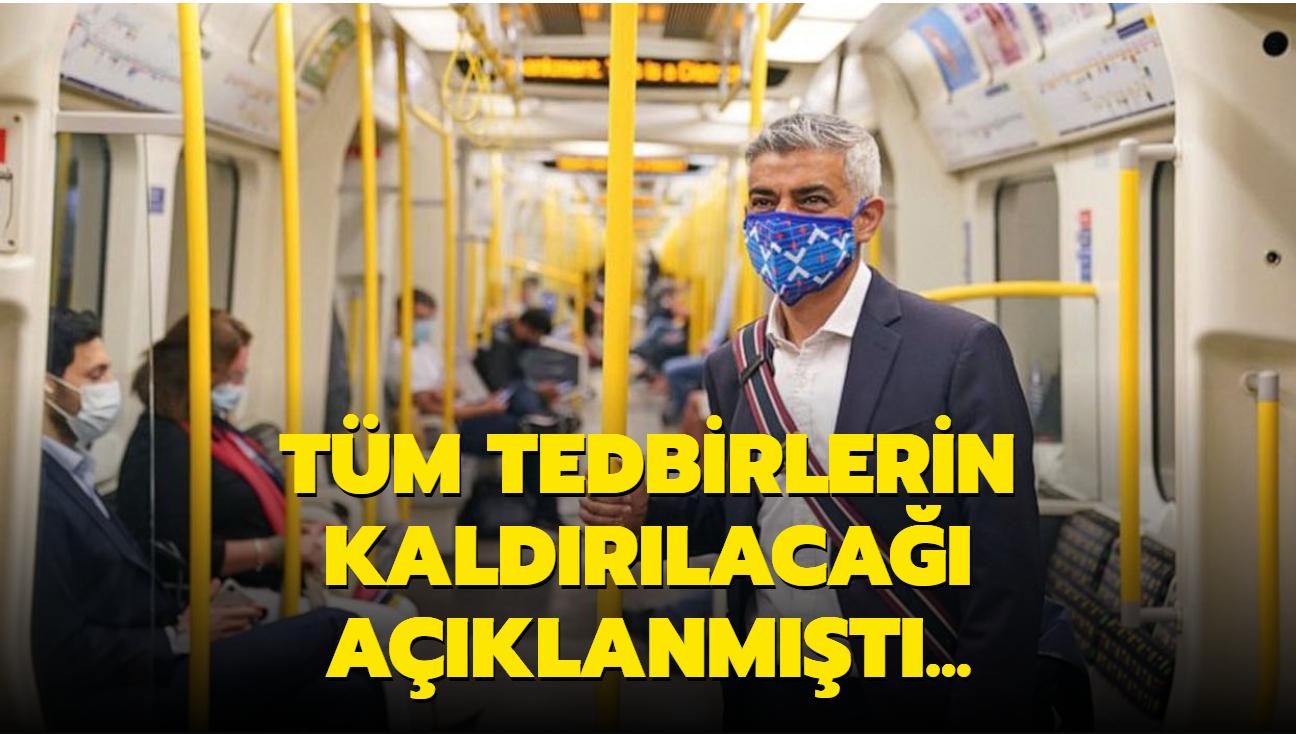 Londra'daki toplu taşıma araçlarında maske takma zorunluluğu sürecek