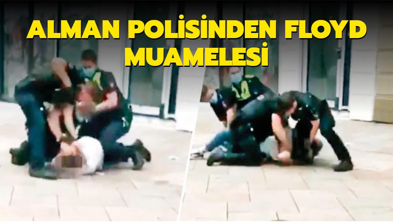 Alman polisinden Floyd muamelesi