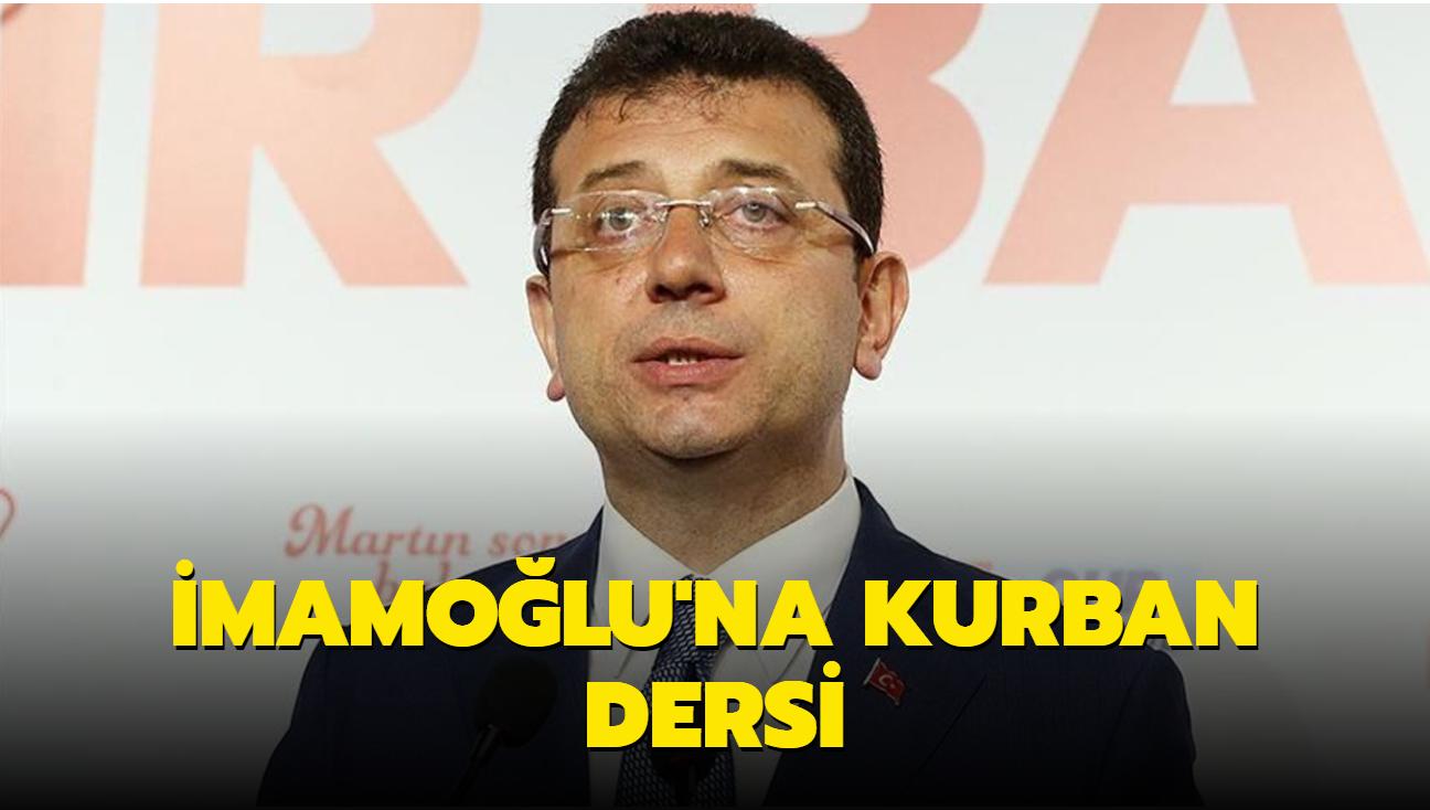 Bosnalı gazeteciden İmamoğlu'na kurban dersi