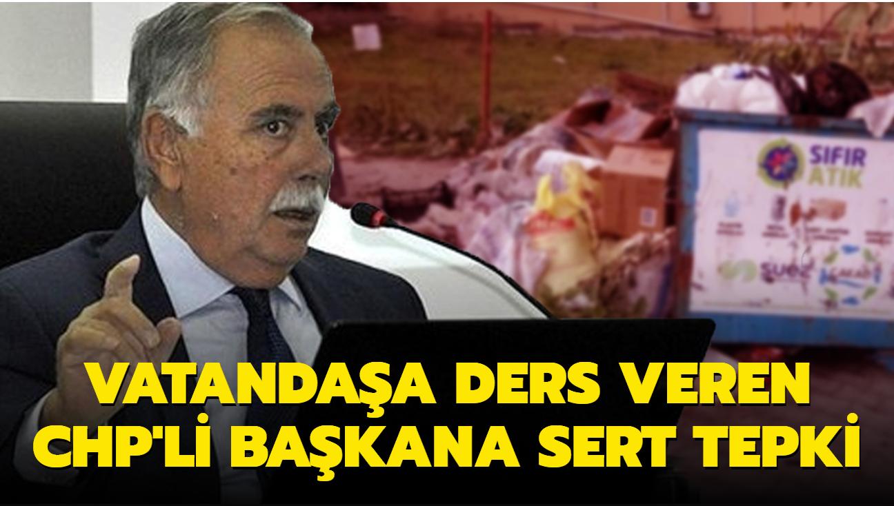 """CHP'li başkan bunu da yaptı: Vatandaşa """"medeniyetsiz"""" dedi"""