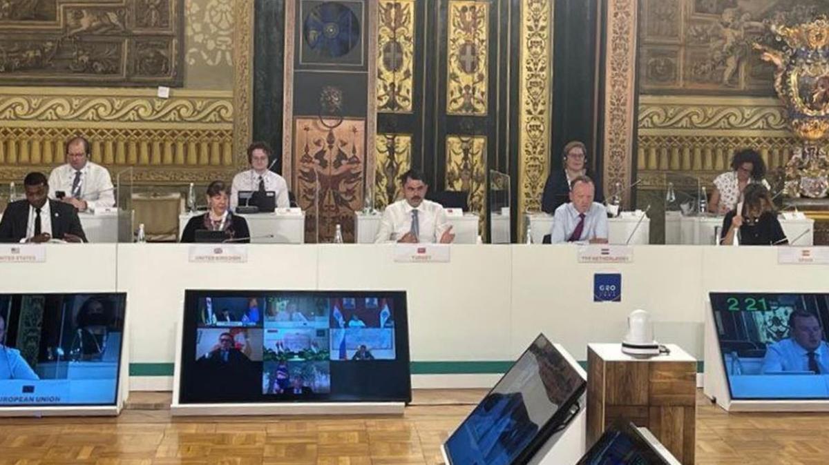 Çevre ve Şehircilik Bakanı Murat Kurum'dan G20 Çevre Bakanları Toplantısı'nda önemli mesajlar