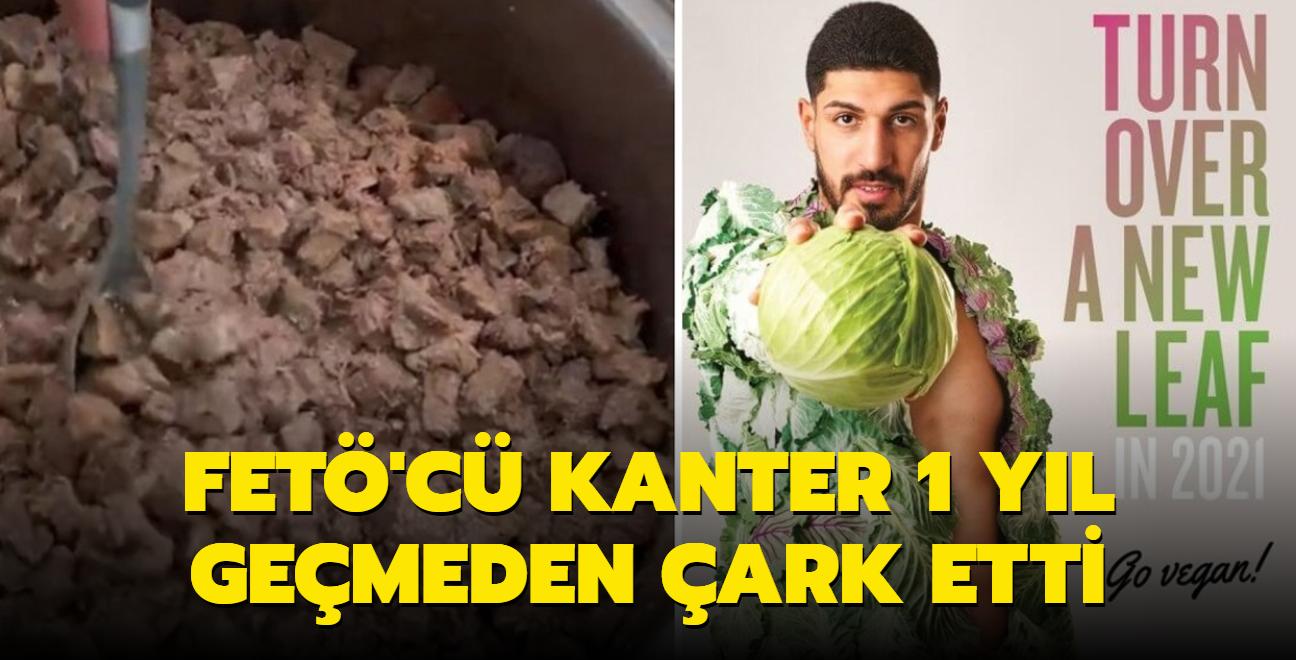 Vegan reklamı yapan FETÖ'cü Enes Kanter kavurma pişirdi