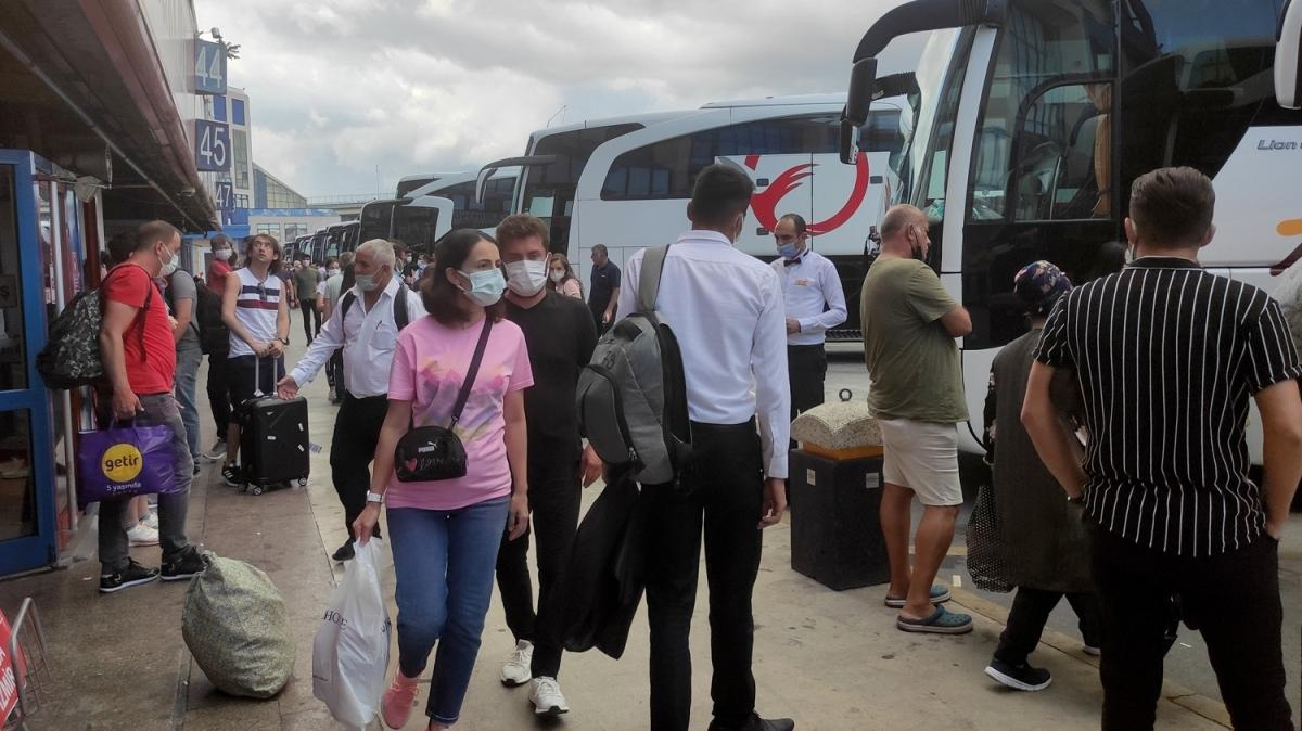 15 Temmuz Demokrasi Otogarı'nda bayram dönüşü yoğunluğu