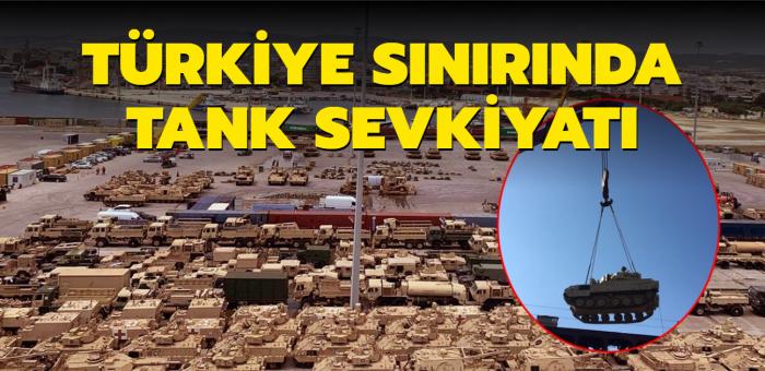 ABD, Türkiye sınırına tank ve zırhlı araç yığdı