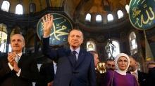 Başkan Erdoğan'dan ''Ayasofya'nın Dirilişi'' paylaşımı