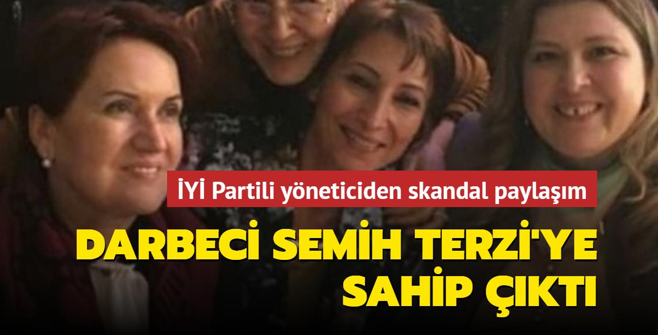 İYİ Partili yöneticiden skandal paylaşım: Darbeci Semih Terzi'ye sahip çıktı
