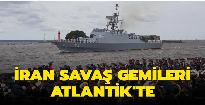 İran'a ait savaş gemileri, Rusların Donanma Günü'nde boy gösterdi