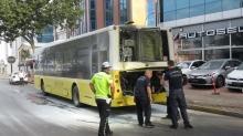 Ataşehir'de özel halk otobüsünde yangın