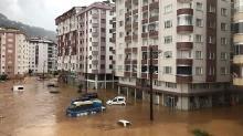 Rize'de olası sel tahliyesi