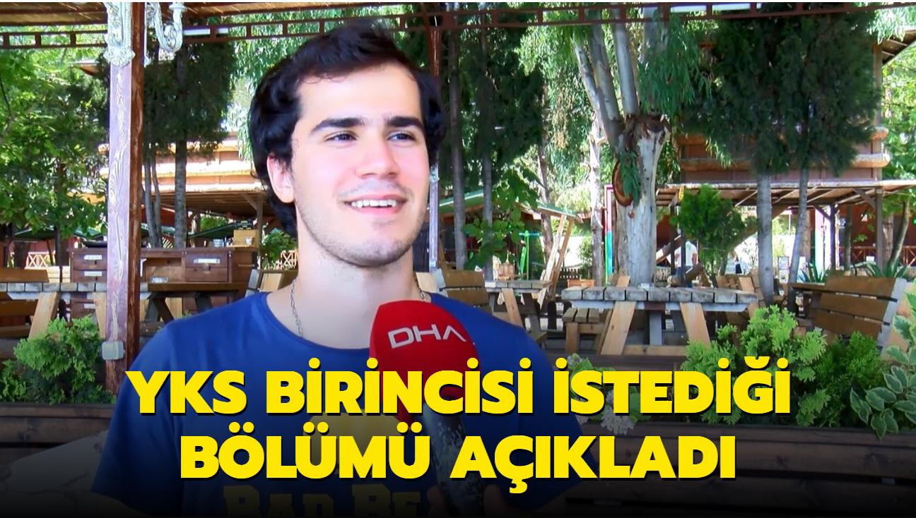 Adana'da YKS birincisi Eren istediği bölümü açıkladı
