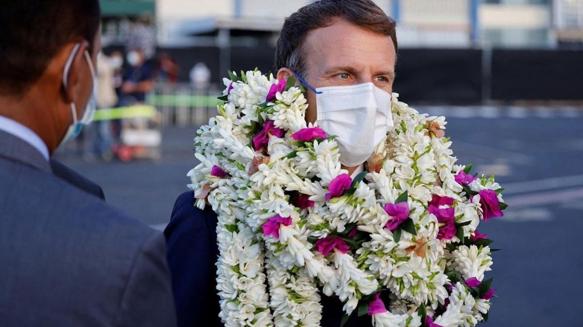 """Macron'dan itiraflar: Özür dilemedi, """"Fransa Polinezya'ya borçlu"""" dedi"""