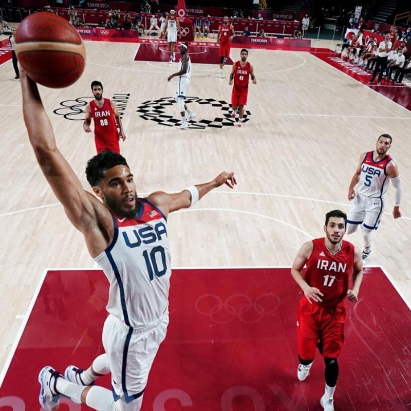 Tokyo 2020 erkek basketbolda ABD, İran'ı 120-66 mağlup etti