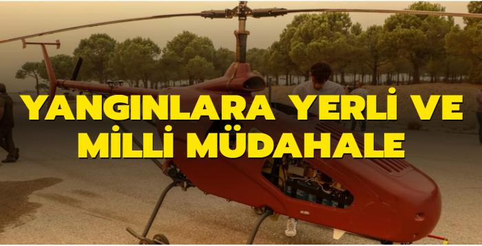 Manavgat yangınında kullanıldı... Yangınlara insansız helikopterli müdahale