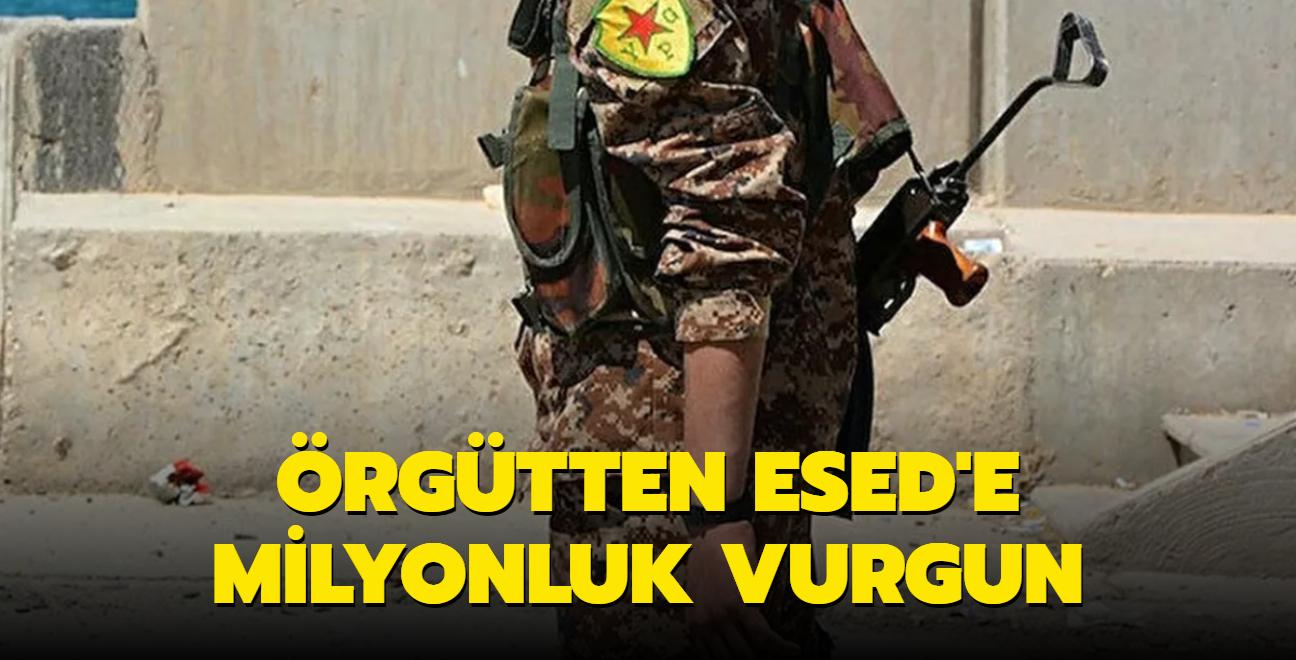 Terör örgütü YPG/PKK'dan Esed rejimine milyonluk vurgun