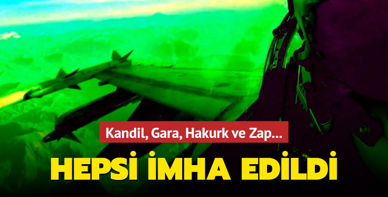 Kandil, Gara, Hakurk ve Zap'ta flaş operasyon! 40'a yakın hedef imha edildi