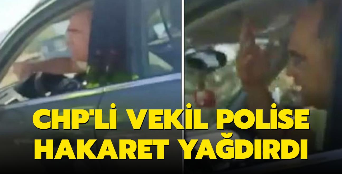 CHP'li vekil Turan Aydoğan kimlik soran trafik polisini fırçaladı