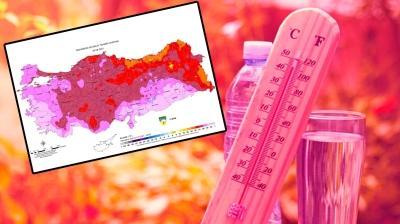 Meteoroloji'den kavurucu sıcaklara haritalı uyarı