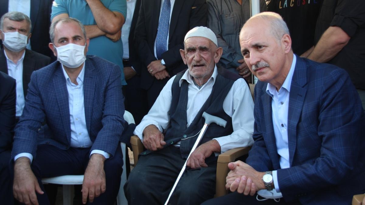 AK Parti Genel Başkanvekili Kurtulmuş'tan, Konya'da silahlı saldırıda öldürülen 7 kişinin ailesine taziye ziyareti