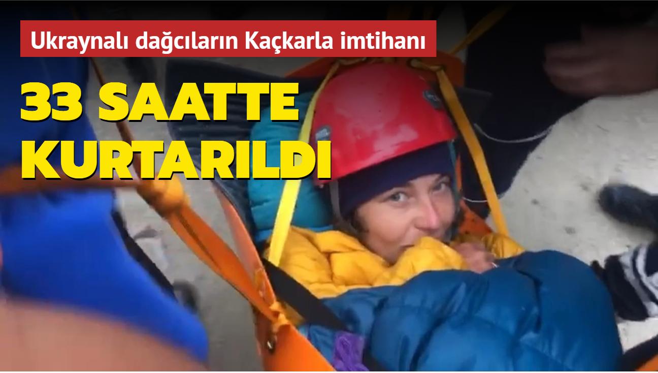 Ukraynalı dağcıların Kaçkarla imtihanı! 33 saat mahsur kaldılar