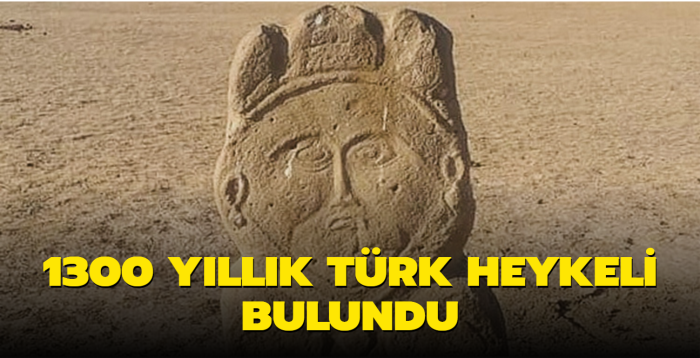 Kazakistan'da 1300 yıllık Türk heykeli bulundu
