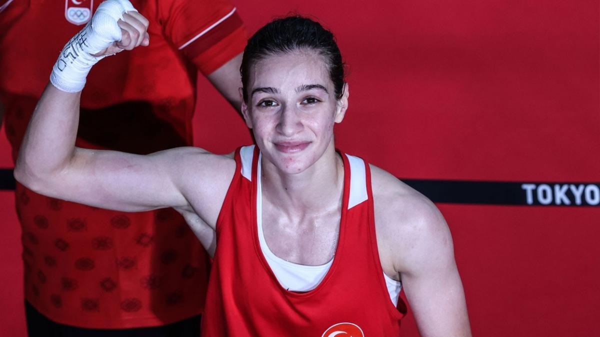 Tokyo Olimpiyatları'nda bir madalya daha garantilendi: Buse Naz Çakıroğlu boksta yarı finale yükseldi