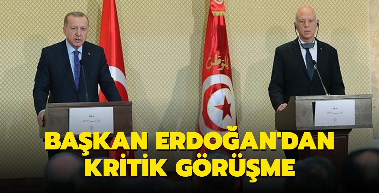 Başkan Erdoğan, Tunus Cumhurbaşkanı Kays Said ile görüştü