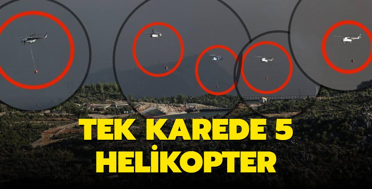 İletişim Başkanı Altun paylaştı... Tek karede 5 helikopter