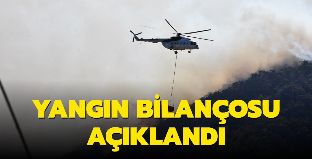 İletişim Başkanlığı orman yangınlarında güncel verileri paylaştı