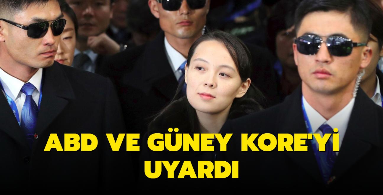 Kuzey Kore liderinin kız kardeşinden ABD'ye uyarı