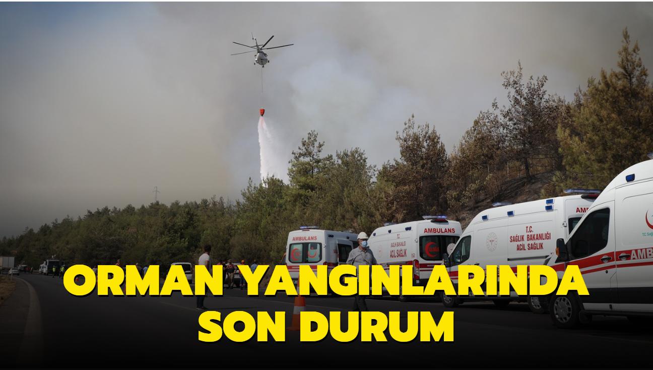 Tarım ve Orman Bakanı Bekir Pakdemirli duyurdu... Orman yangınlarında son durum