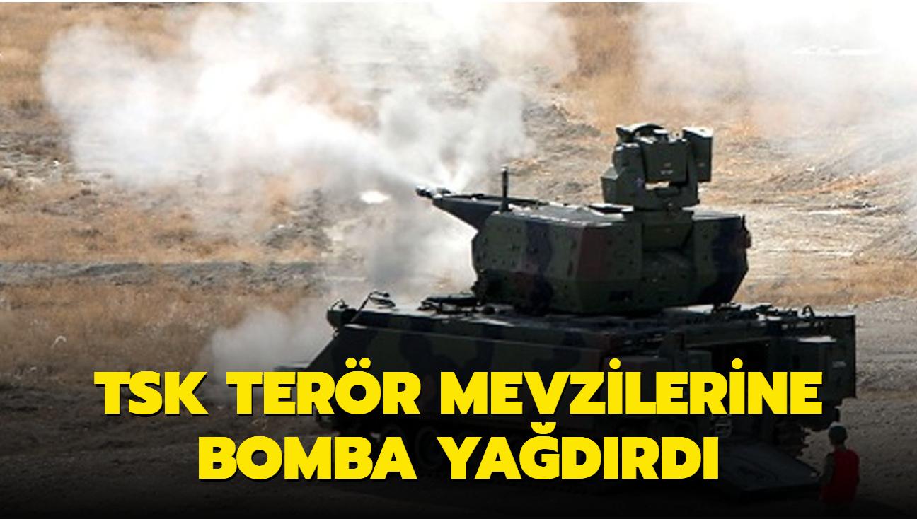 Bab'da sivillere saldıran PKK/YPG'li teröristlere top ve havanlarla cevap