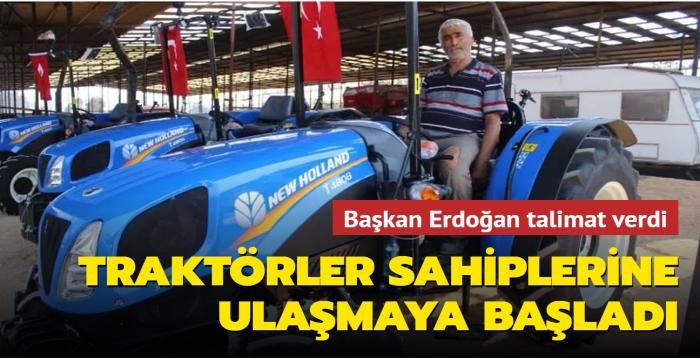Başkan Erdoğan talimat verdi, Manavgat'ta traktörler sahiplerine ulaşmaya başladı