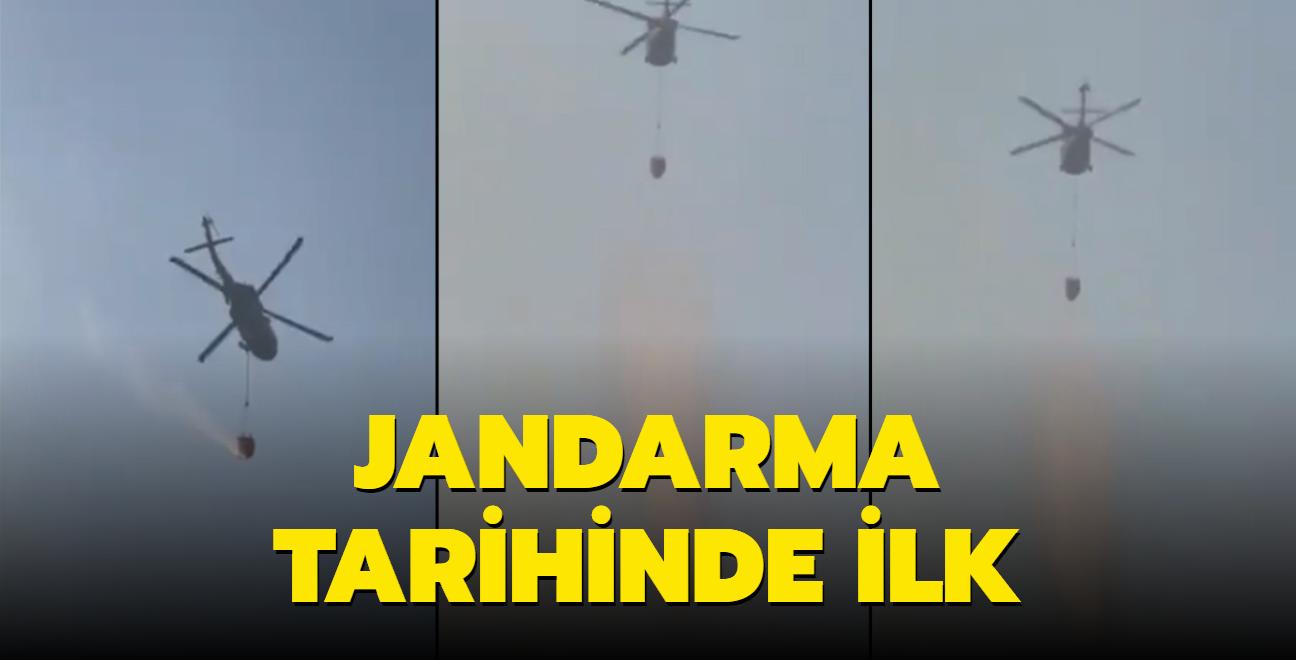 Sikorsky helikopteri de yangınlar için seferber oldu