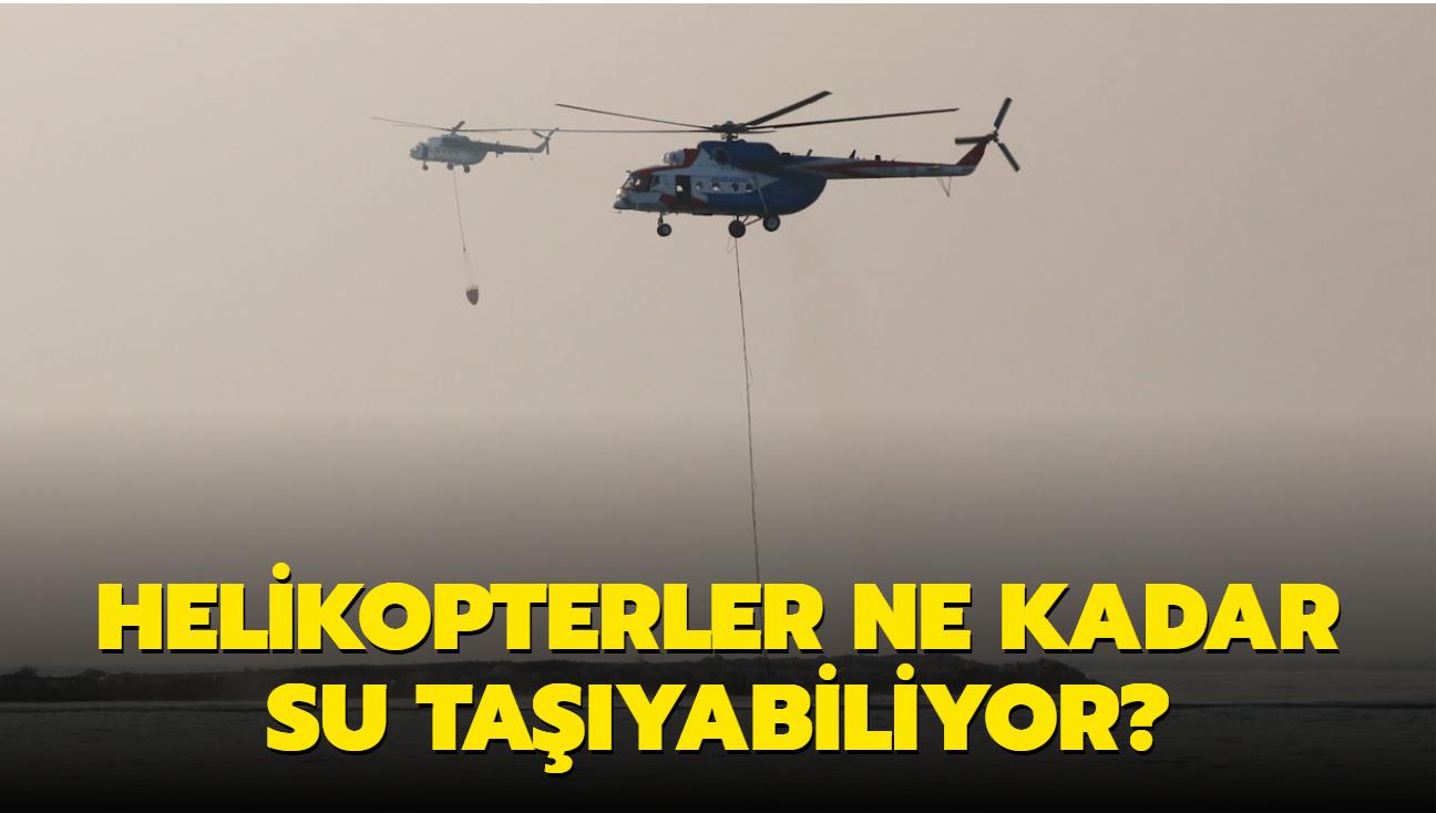 """Yangın söndürme helikopterleri saatte ne kadar su taşıyabiliyor"""""""