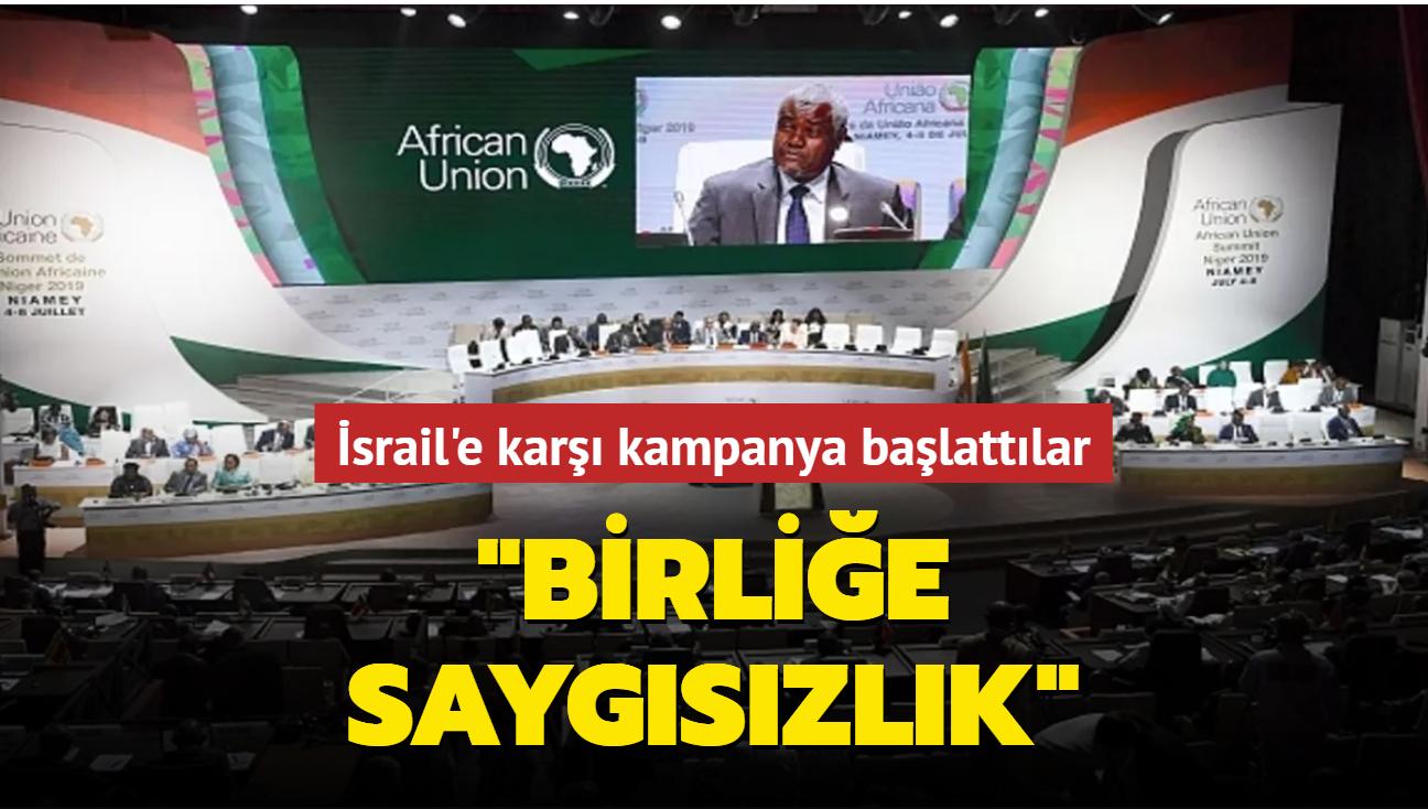 """Cezayir İsrail'in Afrika Birliği'ne """"gözlemci üyeliğine"""" karşı kampanya başlattı"""