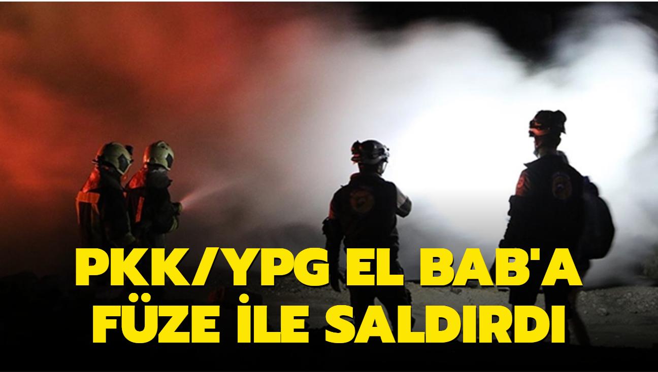 Terör örgütü YPG/PKK, El Bab'a füze ile saldırdı